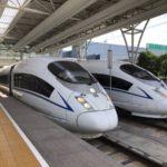 上海虹橋駅で中国新幹線を目撃